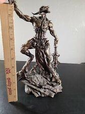 "Molag Bal Elder Scrolls Online 2014 Bethesda 12"" Collector's Statue horned Demon"