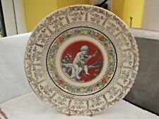 VINTAGE  DECORATIVE / DINNER PLATE WITH A CHILD WITH A MUSICAL INSTRUMENT