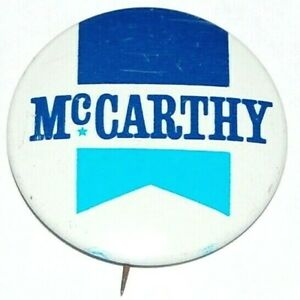 1968 EUGENE MCCARTHY campaign pin pinback button political presidential election