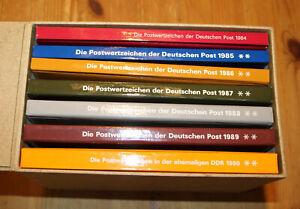 DDR Jahrbücher 1984-90 komplett postfrisch. Wert 830 Euro