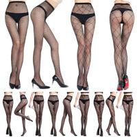 Women's Stockings Sexy Hollow Jacquard Mesh Pants Fun Fishing Net Leggings ZN