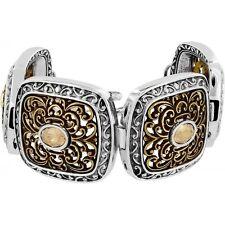 NWT Brighton GALA Crystal Silver Gold BOLD Link Bracelet MSRP  $82