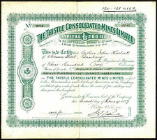 South Africa; Thistle Consolidated Mines Ltd., 5/- shares, 1897