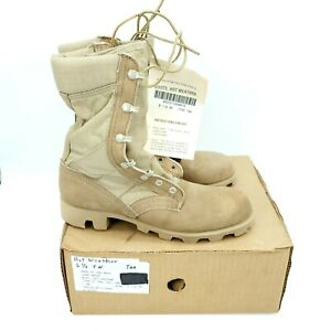 Wellco Hot Weather Boots Tactical Des Tan Army Combat Mens 6.5 XN Womens 8.5XN