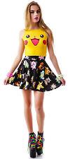 Yellow Girl's Pokemon Pikachu Pattern Vest +Underwear Suits Cosplay