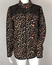 Zenergy by Chico's Animal Print Mesh Zip Up Windbreaker Jacket Size 0