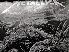 Metallica Lisbon Portugal Europe Gig Poster Print Ken Taylor Limited Dragons 350