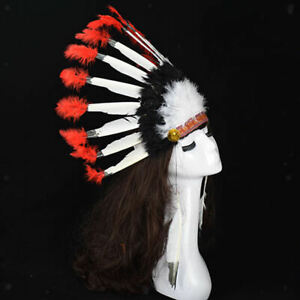 Boha American Feather Headdress For Wedding Tribe Party Halloween Costumes