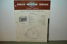 PHILCO RADIO SERVICE MANUAL MODEL PORTABLE B651