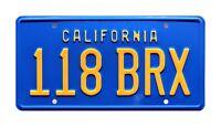 Hooper   Burt Reynolds' 78 Trans Am   118 BRX   Metal Stamped Prop License Plate