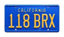 Hooper | Burt Reynolds' 78 Trans Am | 118 BRX | Metal Stamped Prop License Plate