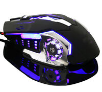6 Buttons Adjustable DPI Gaming Mouse USB Wired Optical Computer Game Mouse