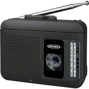 MCR75 Jensen AM/FM Cassette Player/Recorder Black NEW IN BOX!!!!!