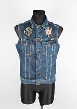 Emmett Jean Company Jeans Men Denim Vest Size M, Genuine