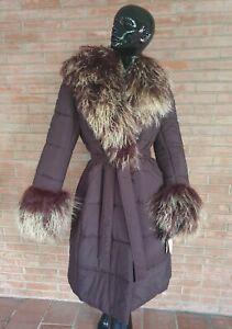 impermeabile collo e polsi pelliccia mongolia giacca fur jacket fourrure fuchs