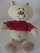 Mothercare baby boys soft toys ebay mothercare teddy bear tan brown red top t shirt soft toy comforter cream easter negle Images