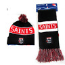 SET OF 2 ST KILDA SAINTS AFL FOOTBALL PATCH BAR SCARF & PATCH BAR BEANIE
