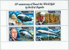MALDIVES - ERROR, 2014 MISSPERF SHEET: GRAF ZEPPELIN, AVIATION