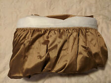 New listing Solid Golden Brown Dust Ruffle Bed Skirt Open Corner Cal-King 78 x 80 x 18 Nwot