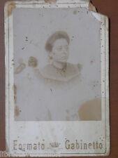 Vecchia foto su cartoncino inizi 900 fotografia antica FORMATO GABINETTO donna 2