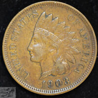 1903 Indian Head Cent, Penny, Extremely Fine+ Condition, Free Shipping, C4954