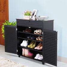 Shoe Rack Storage Organizer Cabinet 3 Shelf 1 Drawers 2 Doors Entryway Stand US