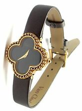 Authentic! Van Cleef & Arpels VCA Vintage Alhambra 18k Yellow Gold Ladies Watch