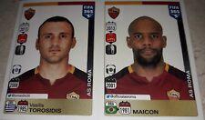 FIGURINA CALCIATORI PANINI FIFA 365 R66 R67 ROMA TOROSIDIS MAICON ALBUM