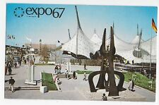 Expo 67 Montreal Canada Pavilion of Federal Republic of Germany Vintage Postcard