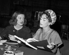Joan Crawford and Bette Davis read Baby Jane script candid movie star 8x10 photo
