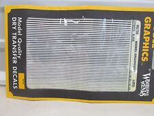 WOODLAND SCENICS # MG759 ~ BLACK STRIPS ~ DRY TRANSFER DECALS ~ HO SCALE