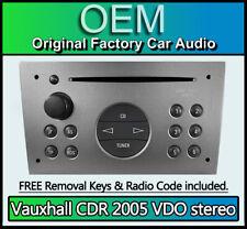 Vauxhall Combo CD player, Vauxhall CDR 2005 Delco radio stereo GREY + code