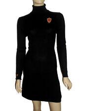 LUXE OH `DOR 100% Cashmere Kaschmir Rollkragenkleid Kleid Luxus schwarz 36 S