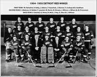 1955 NHL CHAMPIONS Detroit Red Wings Glossy 8x10 Photo Print Stanley Cup Poster