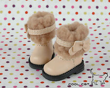 ☆╮Cool Cat╭☆【18-04】Blythe Pullip Doll Boots # Beige