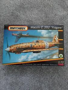 """Matchbox Macchi C. 202 """"Folgore"""" Flugzeug  1:72 Modellbausatz 40012"""