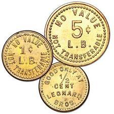 1933 Leonard's Brass Trade Token Set