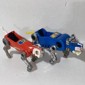 Vintage 1984 Voltron Panosh Place Lot Blue & Red Lion Classic Rare Toys Loose