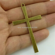13920 10PCS Vintage Bronze Tone Alloy Religious Faith Cross Pendant Charms