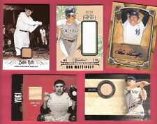 YOGI BERRA BABE RUTH JOE DIMAGGIO GAME USED BAT DON MATTINGLY JERSEY GOOSE AUTO