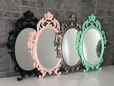 Wandspiegel Oval barock Gold Silber Schwarz Weiß 43x28cm  Spiegel Antik Shabby