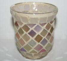 YANKEE CANDLE Votive HOLDER ~ BLUSH MOSAIC ~  SIMPLY GORGEOUS ~