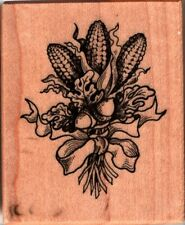 PSX ~ INDIAN CORN ~ Wood Mounted Rubber Stamps Nature Farming