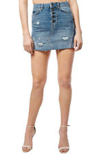 Free People Womens Denim A Line OB789272 Skirt Mini Breezy Blue Size 26W