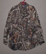 GAME WINNER Realtree Advantage Max-4 HD Youth S Camo Hunting  Button Shirt  EUC