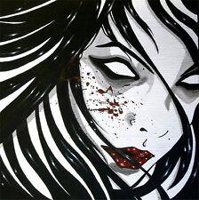 "Gothic Vampire Portrait ""Enigma"" FANTASY ART ebsq"
