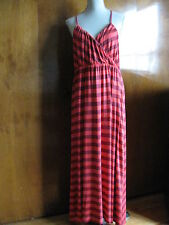 Gap Women's Red/Crimson Striped Rayon Summer Long Dress Size XLarge NWT