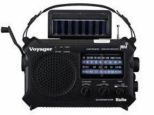 Wind Up Radio AM FM SW Solar Power Hand Crank Radio Black Kaito Radio