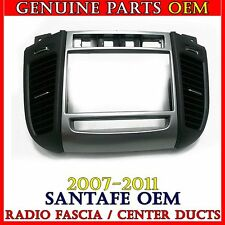 OEM Center Fascia Panel Ass'y Radio Bezel Air Duct 2007-2011 Hyundai Santa Fe