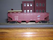 """Accurail #7503 C.& N.W. """"B.C.Red"""" 3-Bay Aar Offset Side Hopper Car #67653"""